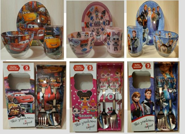 Детские наборы посуды с приборами