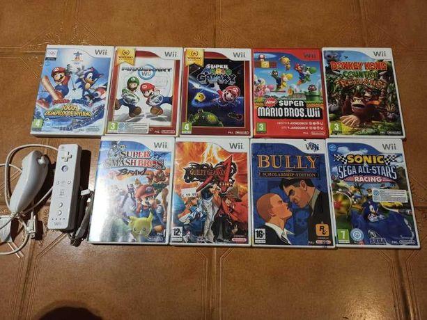 Jogos e comandos para Nintendo wii. Vendo em separado