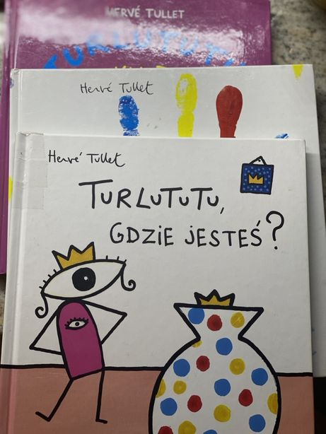 Hervé Tullet zestaw trzech ksiazek o Turlututu