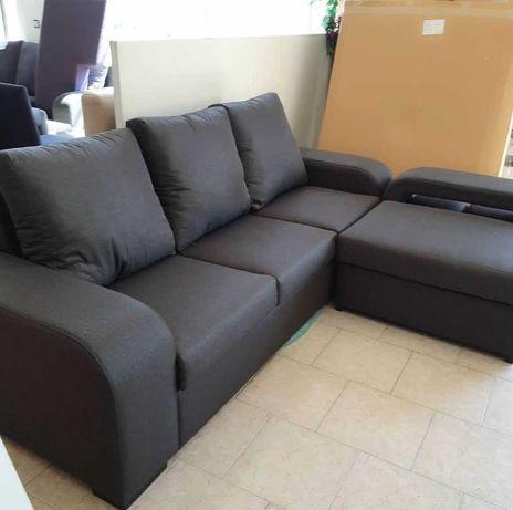 sofá chaise longue Souto novo cinza escuro