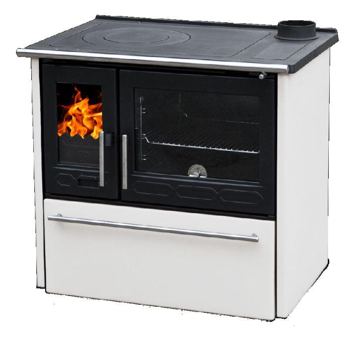 PLAMEN 850 GLAS biała kuchnia żeliwna na drewno Śródmieście - image 1