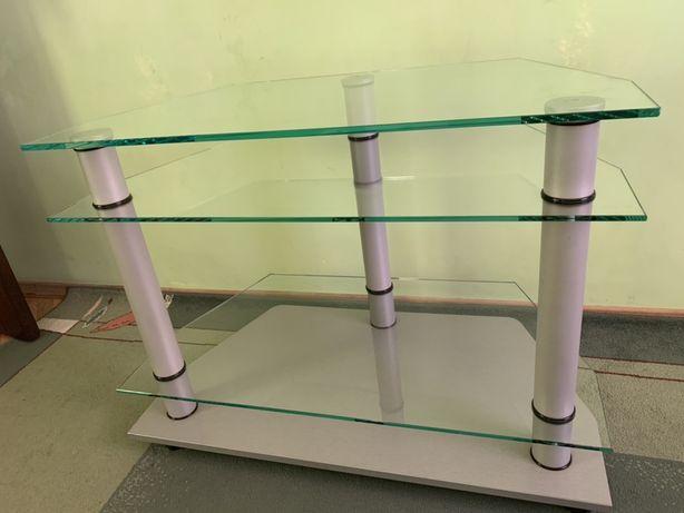Скляна підставка, ТВ підставка, стіл, стол, стеклянная подставка