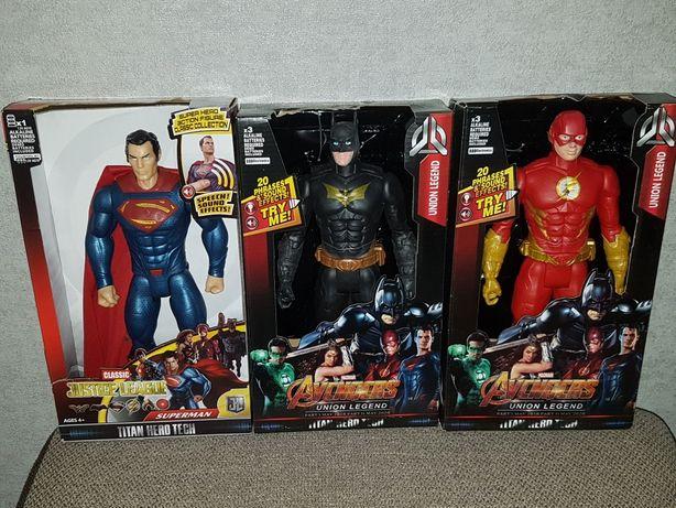 Фигурка Супергероя DC: Супермен,Бетмен, Флеш,свет,звук,высота 30см!
