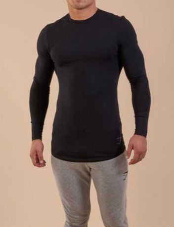 Gymshark longsleeve solace longline ls t-shirt r. S nowy
