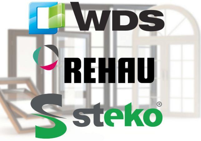 Окна, двери и балконы, пластиковые и деревянные. Rehau, WDS и Steko.