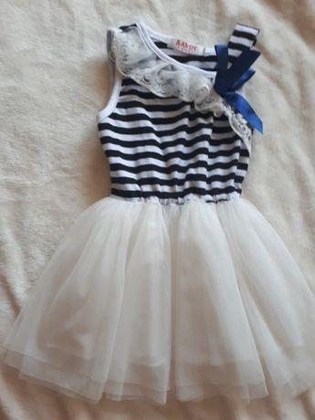 Tiulowa sukienka rozmiar 74/80
