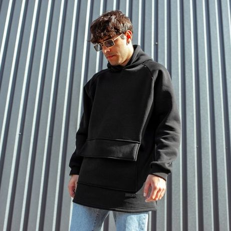 Худи South basic fleece black/mint/electric (Размеры:S M L)