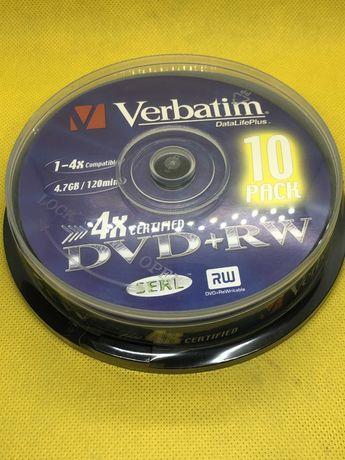 DVD+RW 4,7GB 4x  10шт