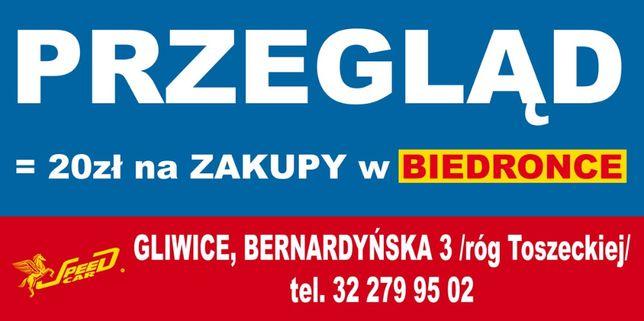 zrób przegląd techniczny i odbierz 20zł na zakupy w Biedronce