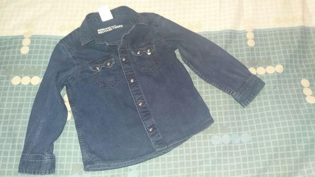 Джинсовая рубашка 3 - 4 г