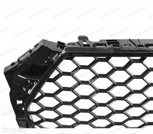 GRELHA FRONTAL AUDI A4 (B9) 15-19 LOOK RS - GLOSSY BLACK