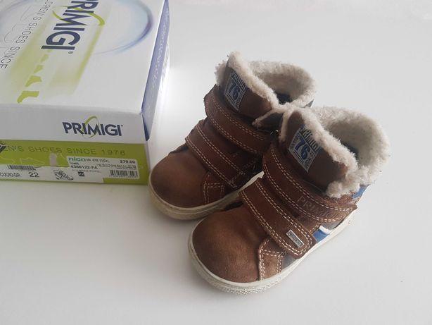 Buty zimowe chłopięce śniegowce na rzepy Primigi r. 22 skóra goretex