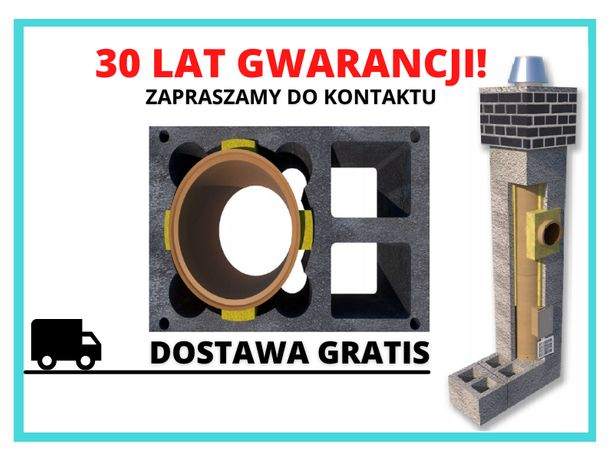 Komin 9m fi 200 Komin systemowy Ceramiczny Dostawa Gratis