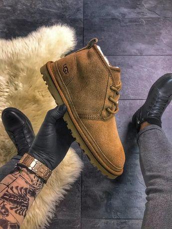 Ботинки UGG MAN Classic Short Brown.   зимние мужские/женские