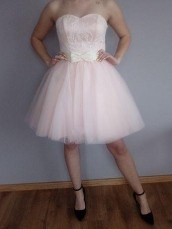 Sukienka koktajlowa z tiulem