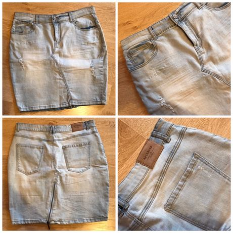 Spódnica elastyczna jeansowa L XL Reserved