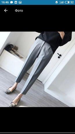 класичні сірі укорочені брюки