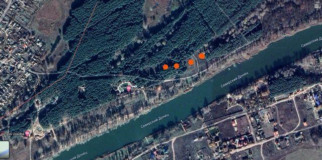 Продам участок Святогорск, берег реки Северский Донец