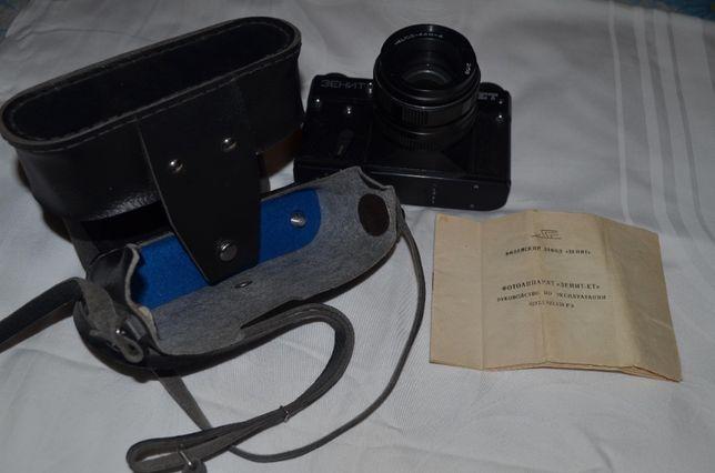 Зенит ЕТ + Объектив гелиос 44М-4 2/58 в кофре, с документами.