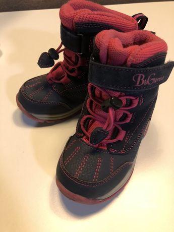 Термоботинки B&G, 24 размер, зимние ботинки на девочку