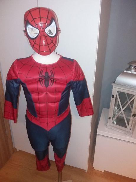 NOWY strój karnawałowy SPIDERMAN MIĘŚNIE przebranie kostium 92/98 (5)