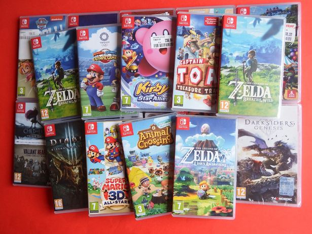 gry SWITCH ZELDA BOTW Animal Crossing MARIO 3D Sonic DIABLO Skyrim