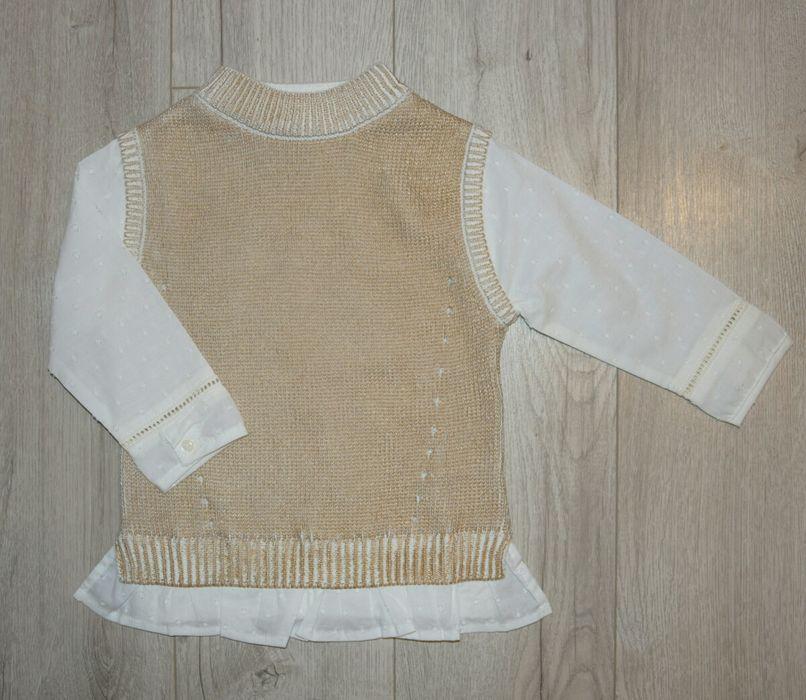 Vertbaudet 86 nowy sweter sweterek 2w1 Moryń - image 1
