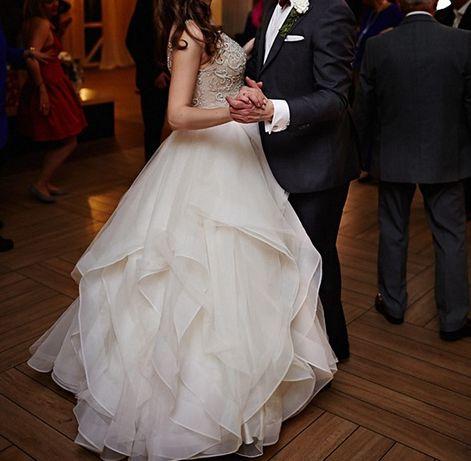 Suknia ślubna Justin Alexander Signature 9847 (USA size 8) st. idealny