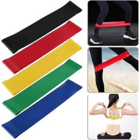 Набор 5 резинок для фитнеса (лента-експандер для фитнеса)