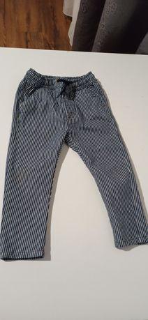 Jeansy, spodnie w paski