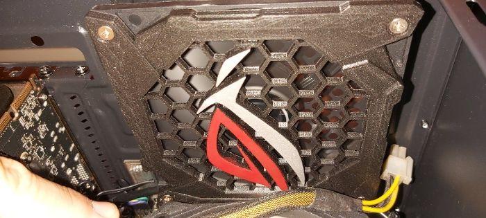 ROG asus, Grelhas personalizadas para ventilador, Fans, PC Modding Benfica - imagem 1