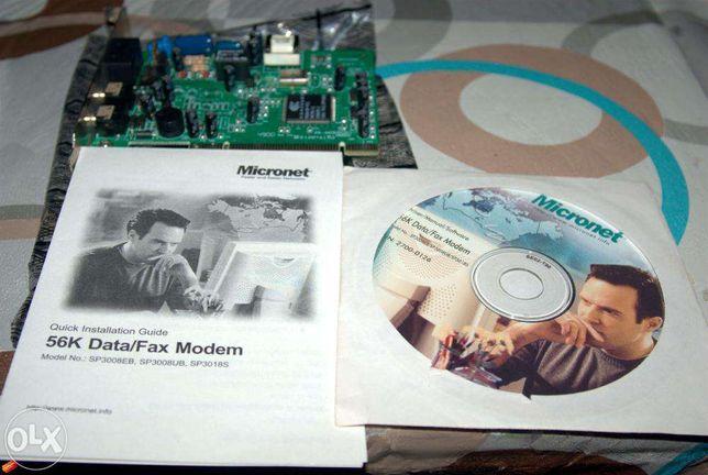 Внутренний аналоговый Data/Fax модем Speedcom RWS-56PCI