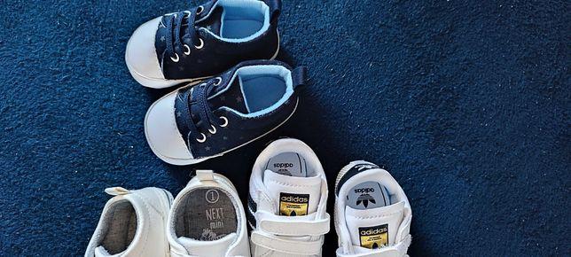 Buciki niemowlęce adidas,next