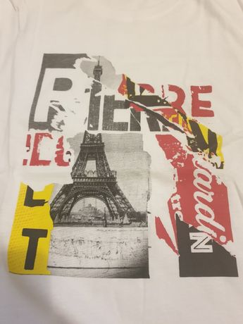 Biały t-shirt Pierre Cardin L