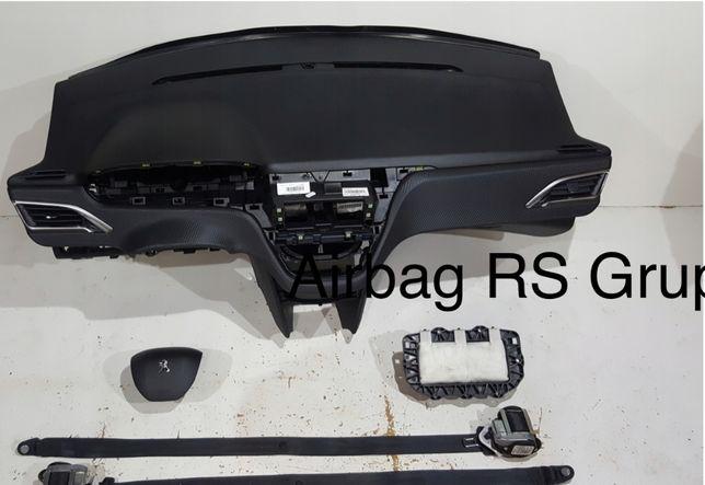 Peugeot 208 tablier airbags cintos