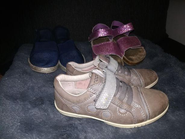 Ecco Birkenstock Toms sandały półbuty skóra r. 28