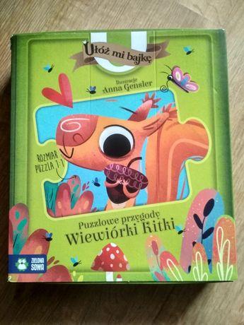 Puzzle ułóż mi bajkę 2+ Anna Gensler puzzlowe przygody wiewiórki Kitki