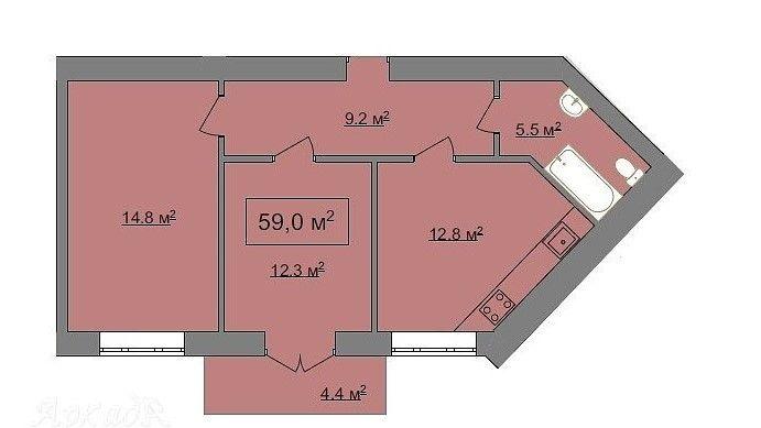 2 кім. квартира з ремонтом в ЦЕНТРІ по вул.Макогона Ивано-Франковск - изображение 1
