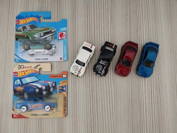 Hot wheels Ford Escort,  Subaru, Celica