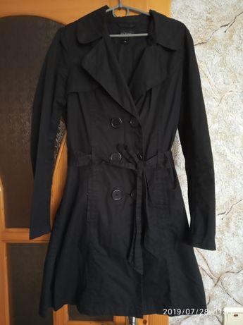 Плащ пальто демисезон М чорний черный куртка