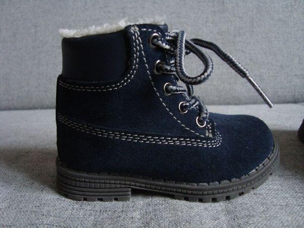 skórzane buty r.20 idealne buciki ze skóry