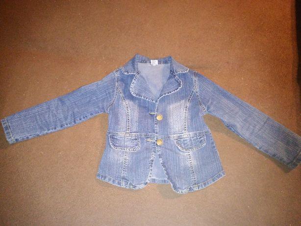 Kurteczka jeansowa dla dziewczynki rozmiar 110-116