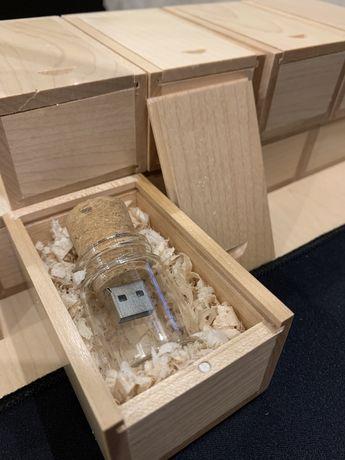 Подарочная флешка 32Gb в деревянном футляре Флешка пробка
