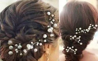 stroik, ozdoba do włosów, kokówka, perła, wsuwka, ślub