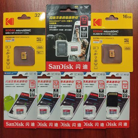Карта памяти SanDisk / Extreme Pro 16 gb 64 GB 128 ГБ Micro SD Kodak