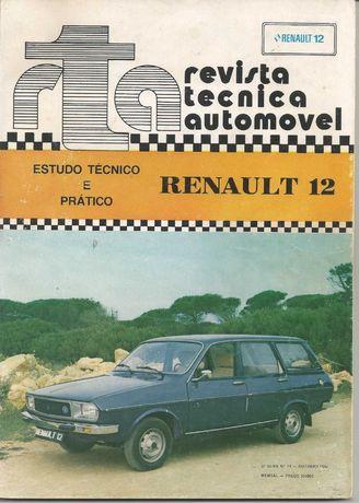 Revista técnica automóvel Renault 12