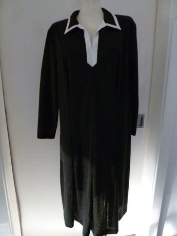 Czarna sukienka z długim rękawem rozm. - XL-