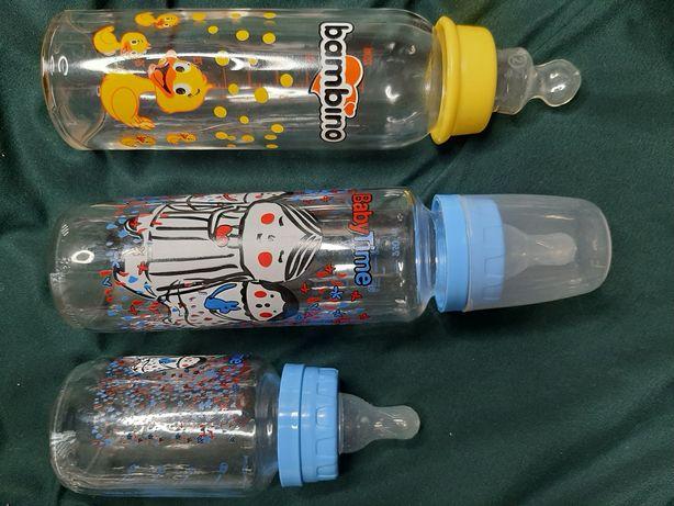 Бутылочки стеклянные для малышей 125, 225, 250 мл