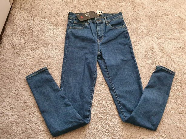 Nowe Spodnie jeansowe Levis 720 High Rise Super Skinny 27