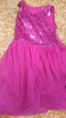 Sukienka brokatowa/ różowa